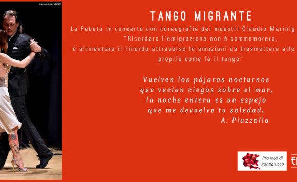 Tango Migrante concerto e coreografie – Pantianicco Mostra regionale delle mele – 25 settembre